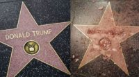 Trump's star before and after.