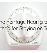 The Heritage Heartcraft Method for Staying on Task