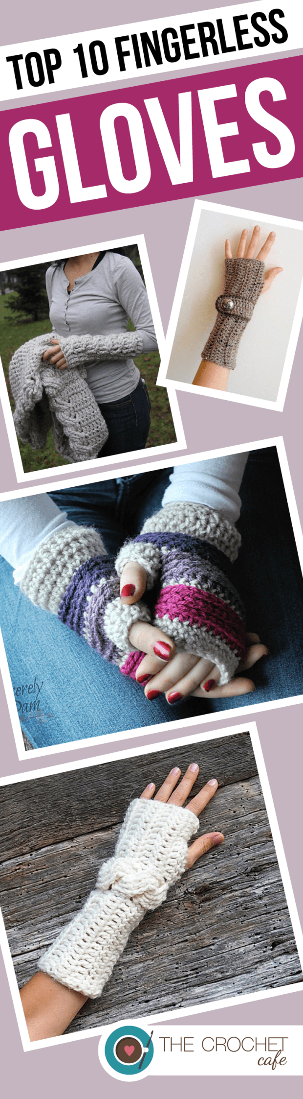 Top 10 Fingerless Gloves (Pinterest)
