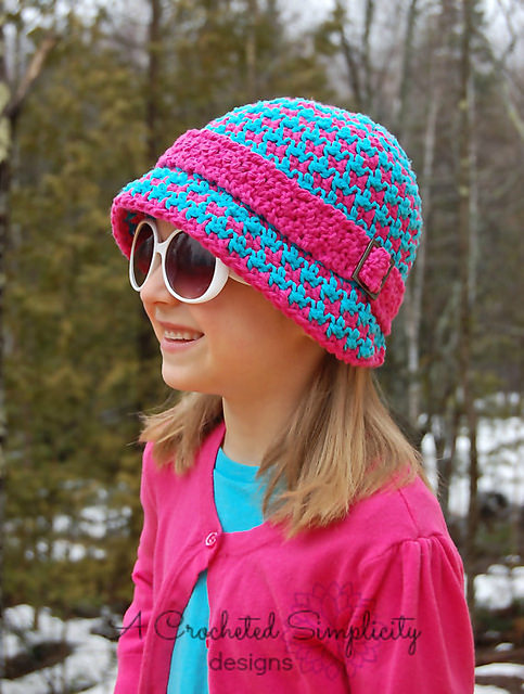 Houndstooth Cloche by A Crocheted Simplicity