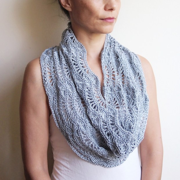 Silver waves loop scarf shrug cowl cape by Accessorise2