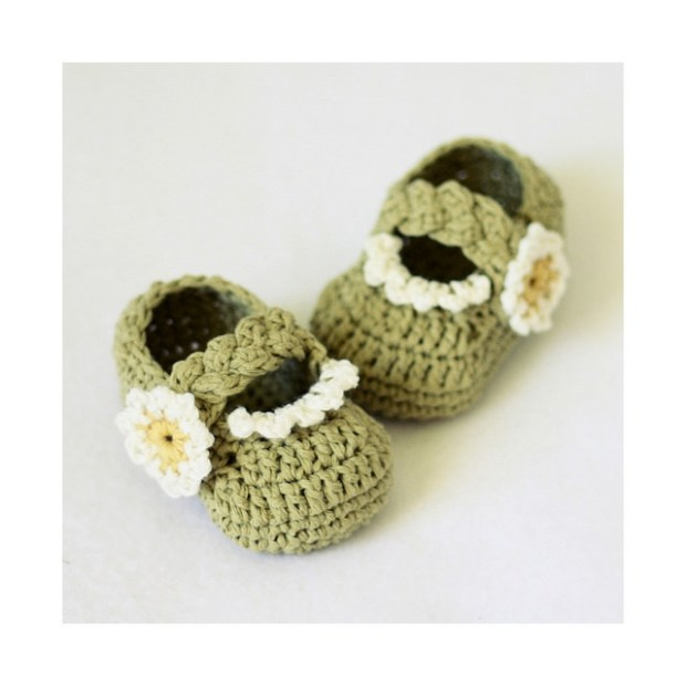 Daisy Braided Strap Booties by Mon Petit Violon