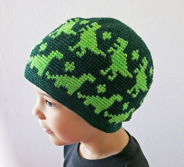 All Ages Dino Beanie by Crochet Ever After