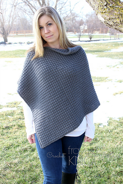 My Leisure Poncho by Frayed Knot