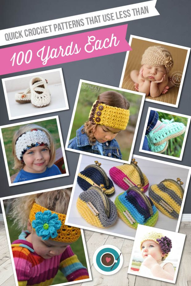Quick Crochet Patterns that use less than 100 yards each (Blog) 2