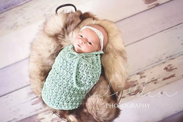 Star Stitch Baby Cocoon or Swaddle Sack by Crochet by Jennifer