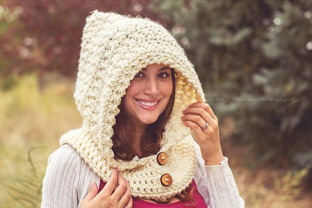 Star Stitch Hooded Cowl by Crochet by Jennifer