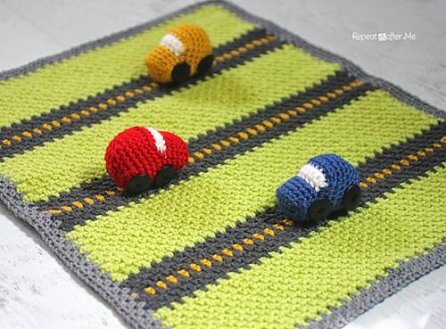 Crochet Race Car %22Playnket%22 by Repeat Crafter Me