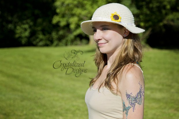 FREE Sunflower Sun Hat by Crystalized Designs
