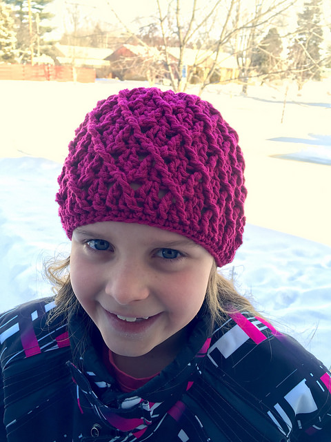 Mini Harlequin Beanie by Crochet by Jennifer