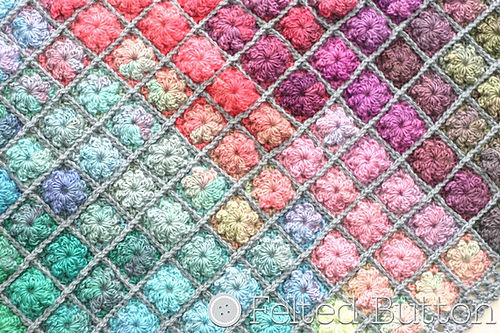 Painted Pixels Blanket by Felted Button