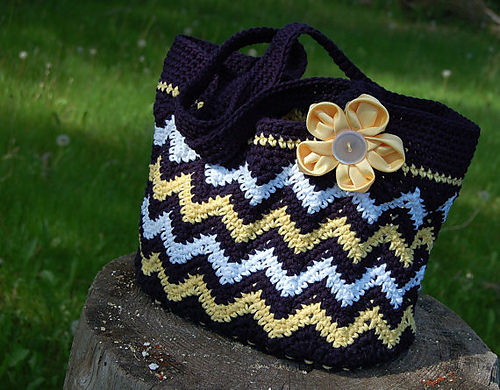 Chasing Chevrons Shoulder BagPurse by A Crocheted Simplicity