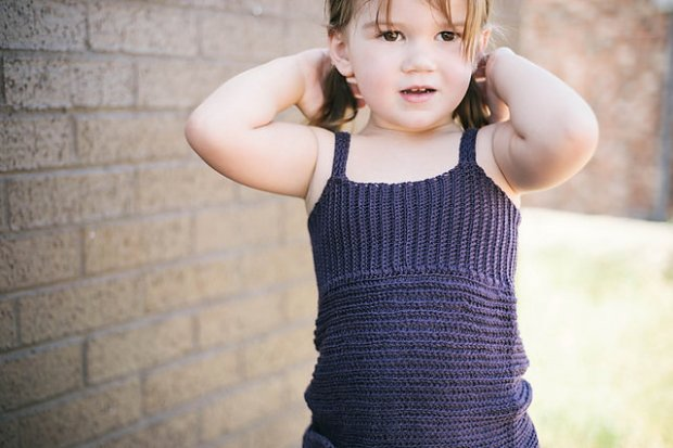 Knit Look Crochet Tank Top by Ball Hank n' Skein