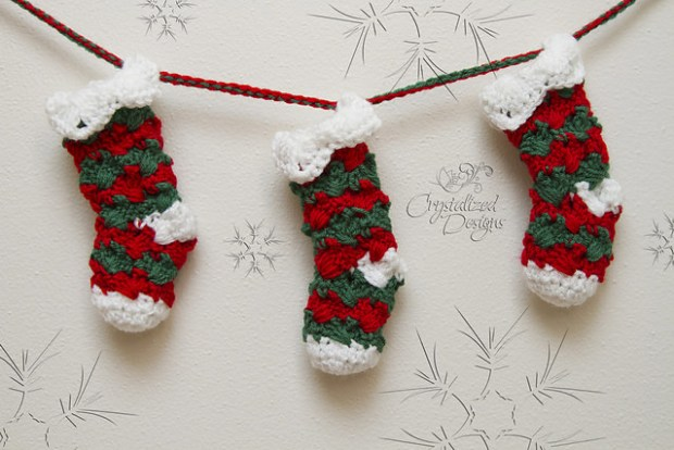 Prancer Stocking by Crystalized Designs