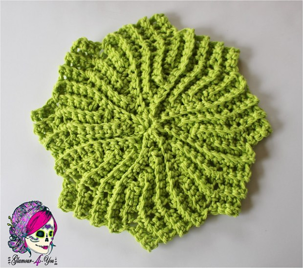 Circle Point Washcloth by Glamour4You