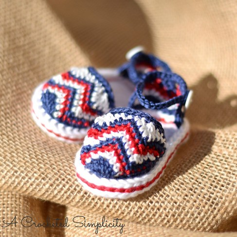 Chasing Chevrons Baby Sandals by A Crocheted Simplicity