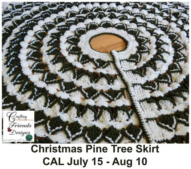Crafting Friends Designs Christmas Pine Tree Skirt Cal July 15-Aug 10