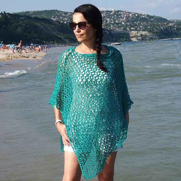 July 25- Diamond flower Poncho by Accessorise