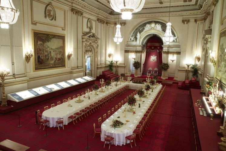 A State Banquet set-up in the Ballroom - Royal Collection Trust/Her Majesty Queen Elizabeth II, 2015