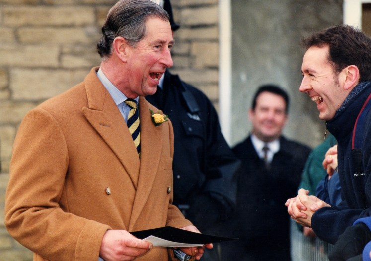 Prince Charles chats with Paul, 2001