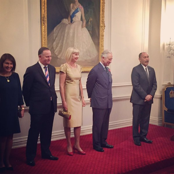 Charles at the State Reception, via Governor General NZ