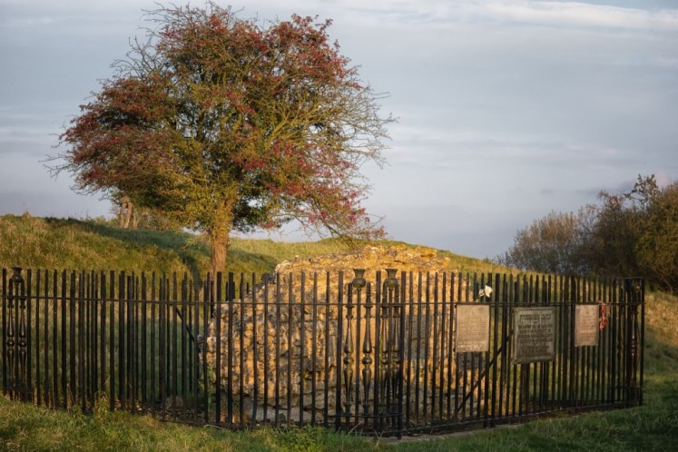 The site of Mary's execution at Fotheringhay Castle.