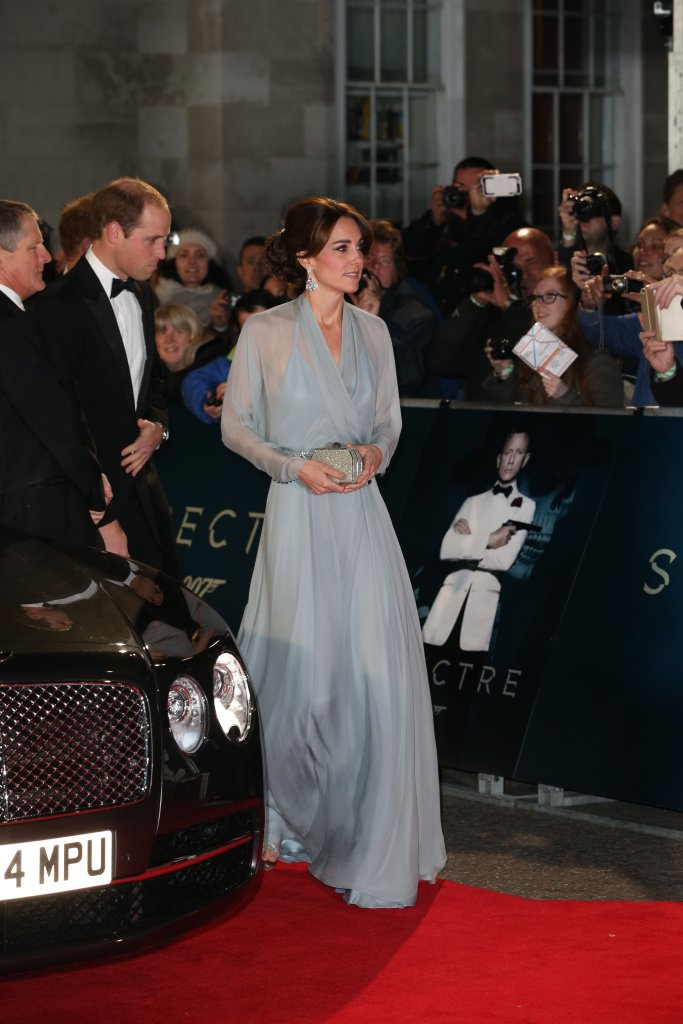 The Duke and Duchess of Cambridge arriving at the World premiere of Spectre. Kate chose Jenny Packham. Picture by Stephen Lock / i-Images