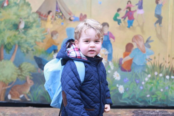 Prince George attended nursery for the first time today. Kensington Palace