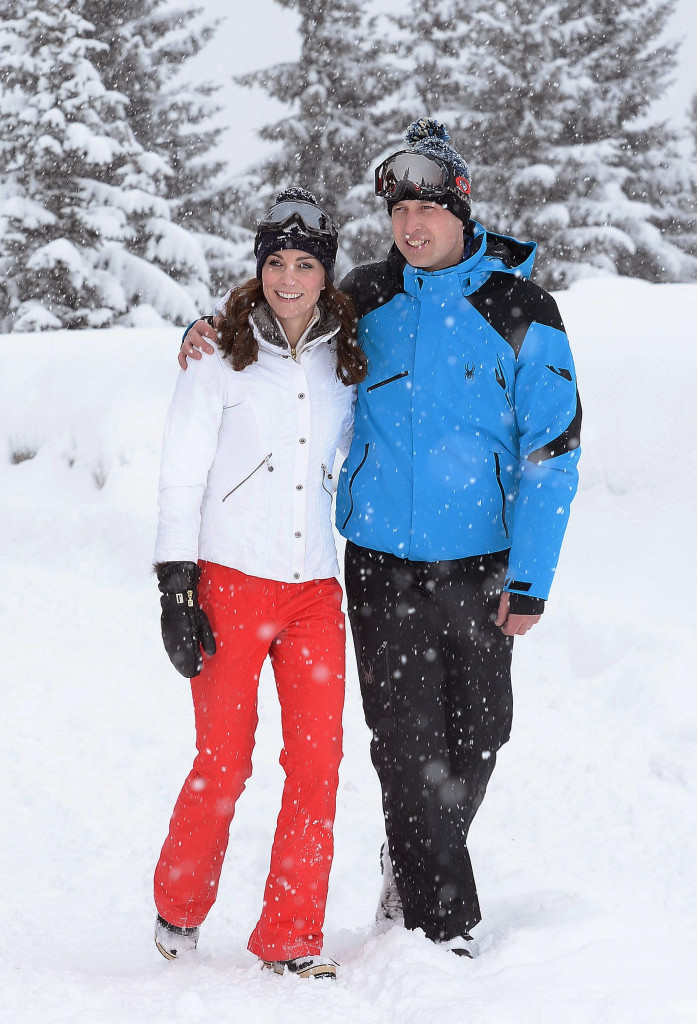 William and Kate enjoy the snow on a recent ski trip. PA/John Stillwell