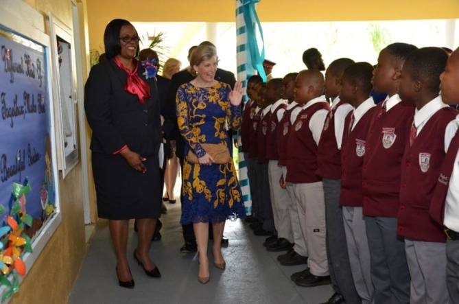 The Countess of Wessex visits Garvin Tynes Primary School to support its Autism centre. (Garvin Tynes Primary School)