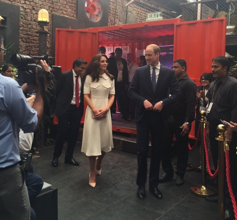 The Duke and Duchess of Cambridge attended a GREAT event with entrepreneurs in Mumbai. UK in India