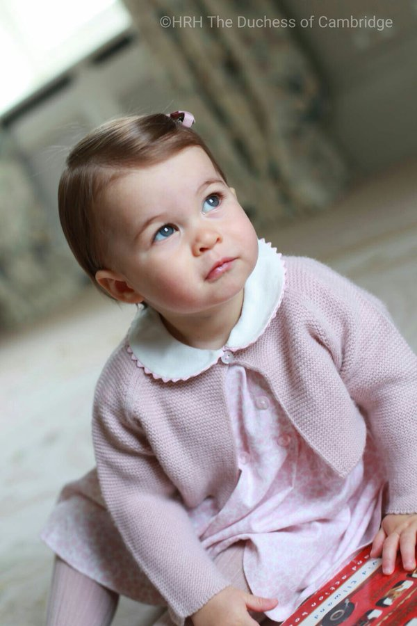 New photos to celebrate Princess Charlotte's first birthday. The Duchess of Cambridge