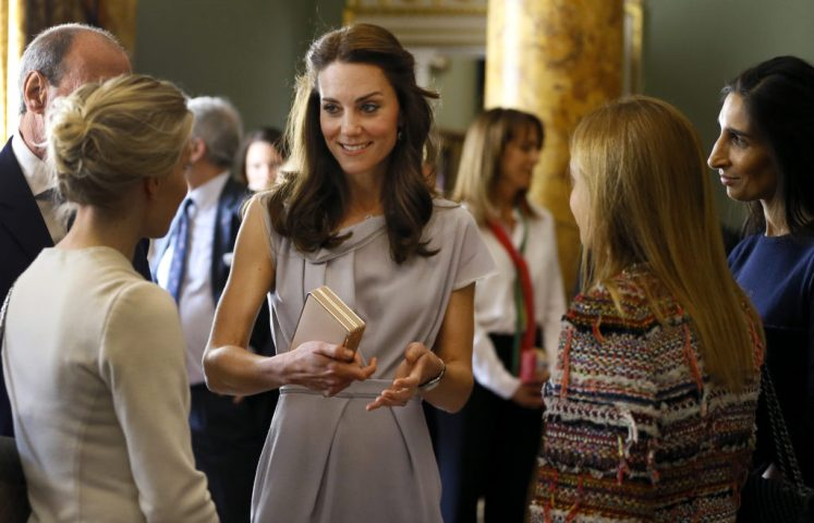 The Duchess of Cambridge at a lunch in support of the Anna Freud Centre in London. Picture by ROTA / i-Images UK OUT