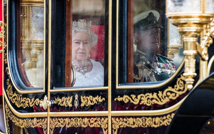 The Queen''s Procession arrives at the House of Lords  for the State Opening of Parliament 2016. (MOD/Sergeant Rupert Frere RLC)
