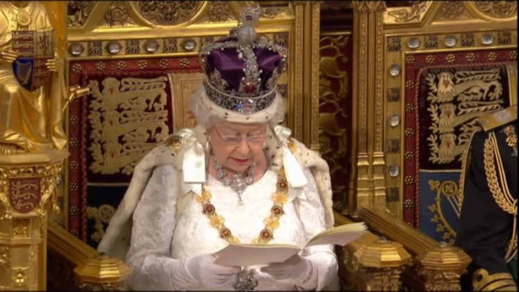 Her Majesty reads the government's plans to the House (UK Parliament)