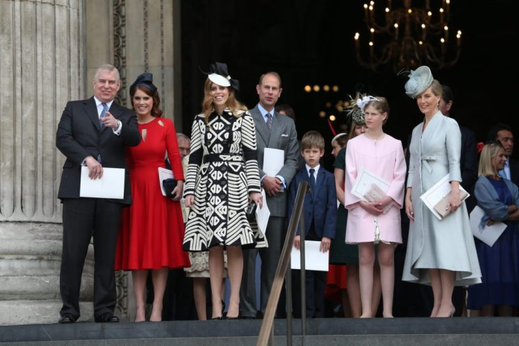 Royals leave the National Service of Thanksgiving to mark her 90th birthday at St.Paul's Cathedral. Picture by Stephen Lock / i-Images