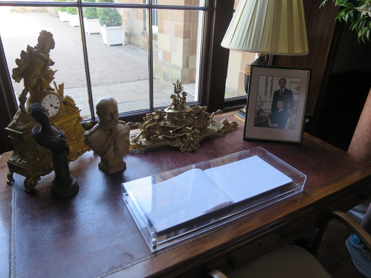 The visitors book, on the most recent Royal signing, Prince Michael of Kent © Victoria Howard