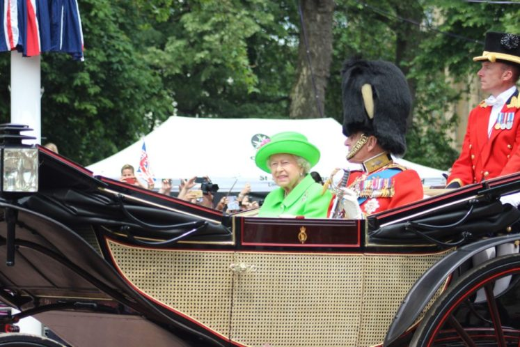 Her Majesty and Prince Philip return from Horse Guards Parade. (Victoria Howard)