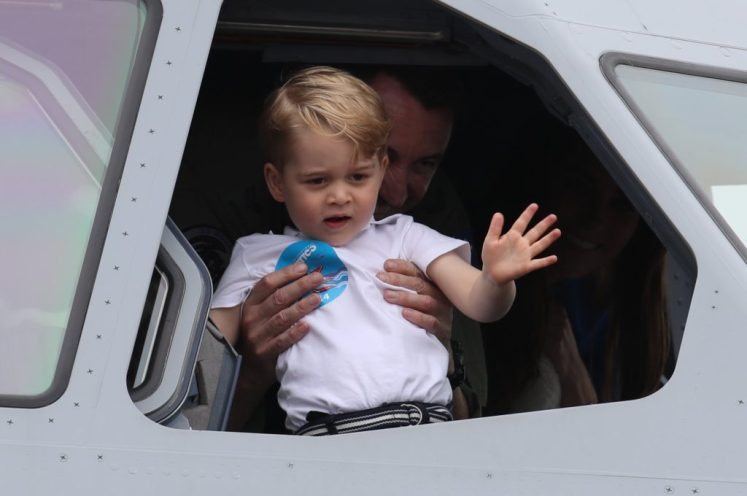 Image licensed to i-Images Picture Agency. 08/07/2016. , United Kingdom. The Duke and Duchess of Cambridge and Prince George at the Royal International Air Tattoo at RAF Fairford, United Kingdom. Picture by Stephen Lock / i-Images