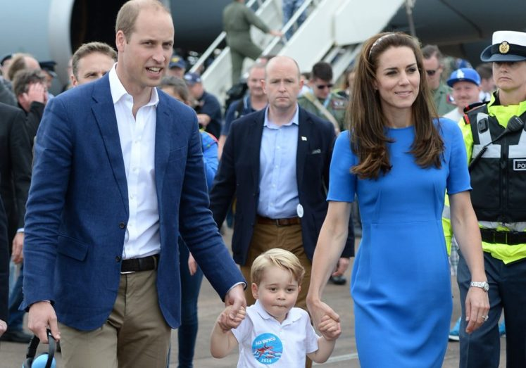 George visited the Air Tattoo with his parents, William and Kate