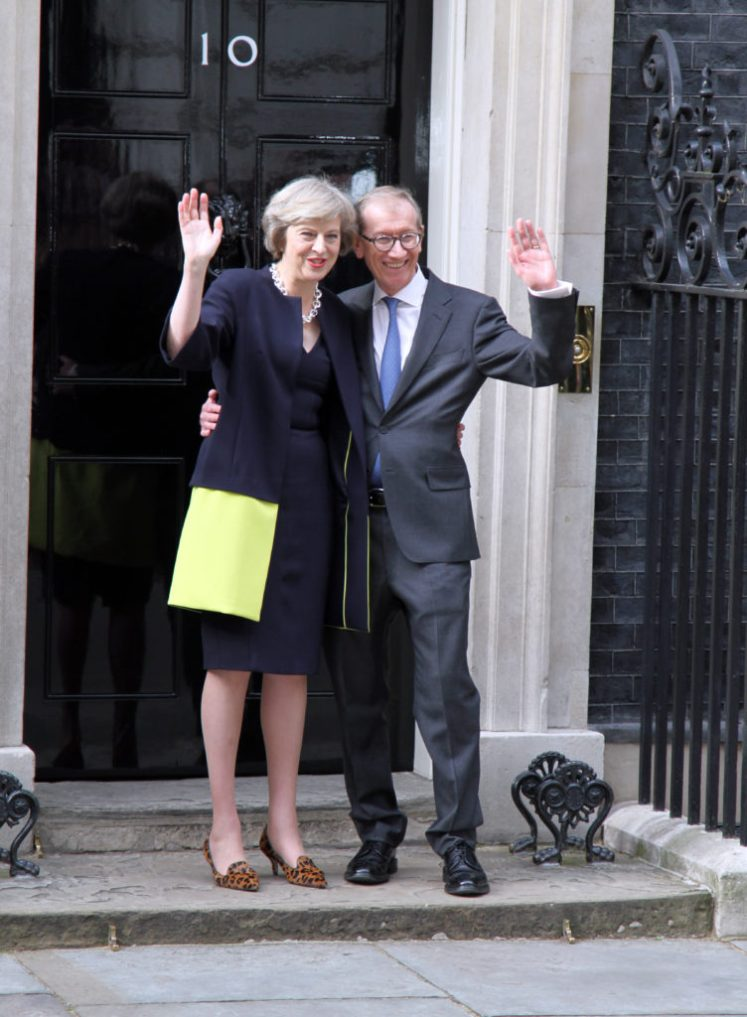 New PM Theresa May Arrives at her new home 10 Downing Street Pictured: PM Theresa May Ref: SPL1318201 130716 Picture by: Martin Daniel Evans / Splash Splash News and Pictures Los Angeles:310-821-2666 New York: 212-619-2666 London: 870-934-2666 photodesk@splashnews.com