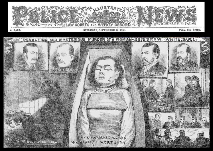 Press coverage of Polly's (Mary Ann Nichols') death at the hands of Jack the Ripper (Bradford Timeline)