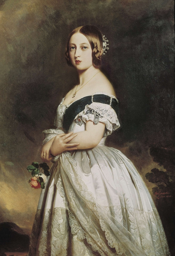 The sapphire coronet can be seen in this portrait of Victoria (Shutterstock/Franz Xavier Winterhalter)