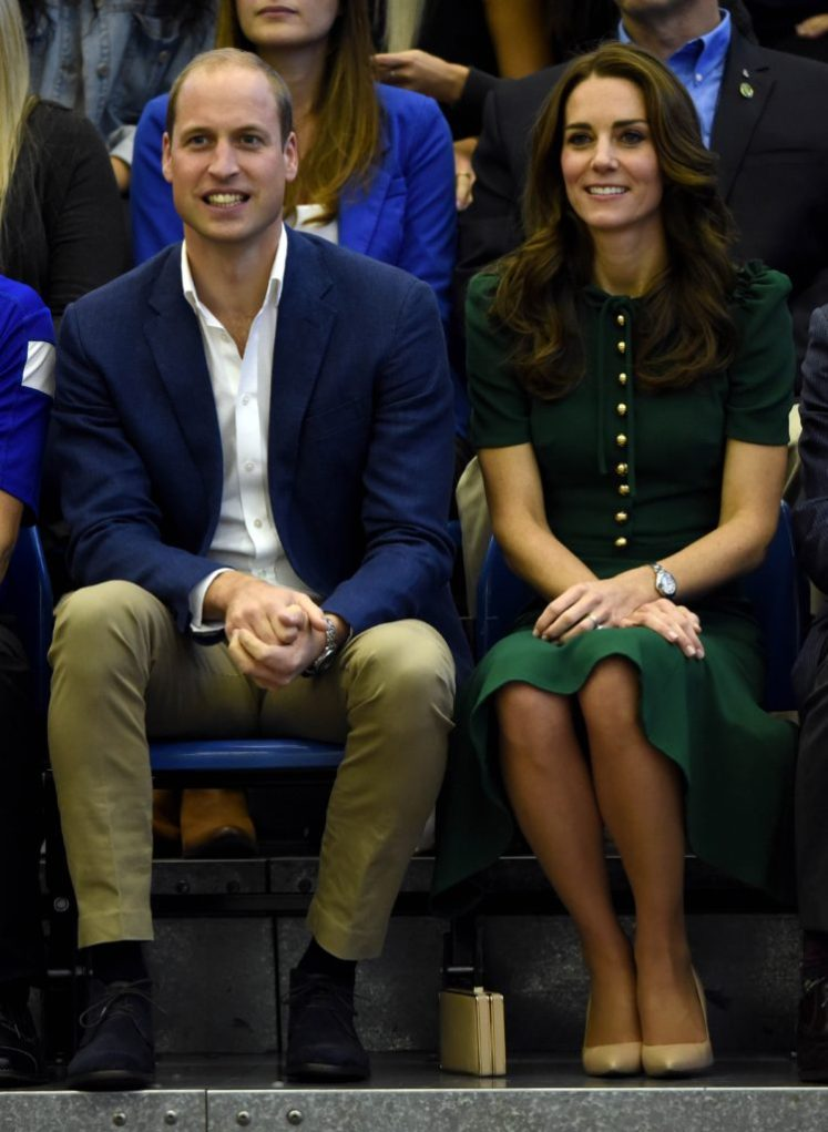 The Duke and Duchess of Cambridge watch a volleyball match at the University of British Columbia. Picture by Andrew Parsons / i-Images