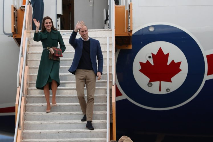 Prince William, Duke of Cambridge and Catherine, Duchess of Cambridge arrive in Whitehorse, Yukon. Picture by Stephen Lock / i-Images