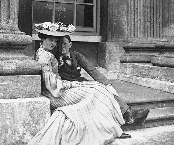 Consuelo Vanderbilt, Duchess of Marlborough with Winston Churchill (Wikimedia Commons)