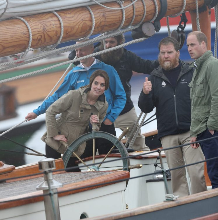 William and Kate sailed on a schooner, the Pacific Grace for their final task of #RoyalVisitCanda. Stephen Lock / i-Images