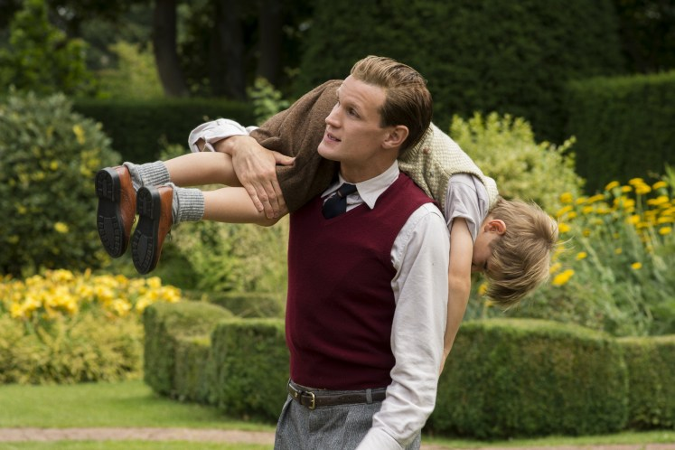 Prince Philip (matt Smith) is the doting father in the first few episodes of The Crown