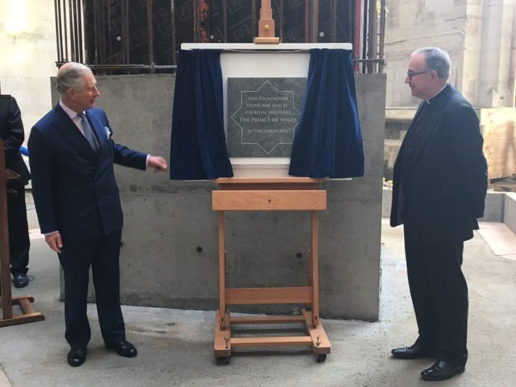 Prince Charles laid the foundation stone for the new gallery at Westminster Abbey (@WAbbey)