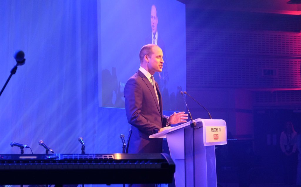 "Duke of Cambridge at ""Welcome to the UK"" reception"